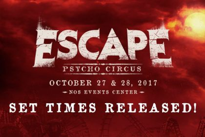 Escape: Psycho Circus 2017 App and Set Times Now Available