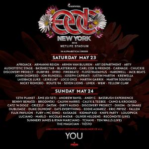 Edc New York 2019 EDC New York 2015 Lineup Released | Insomniac
