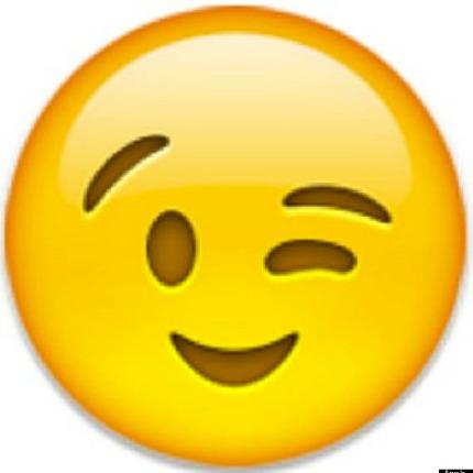 Sexy wink emoticon