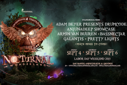 Nocturnal Wonderland 2015 Initial Artist Announcement