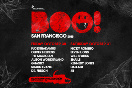 BOO! San Francisco 2015 Lineup Released