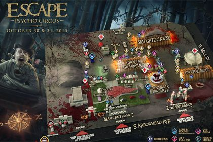Behold, the Escape: Psycho Circus Festival Map