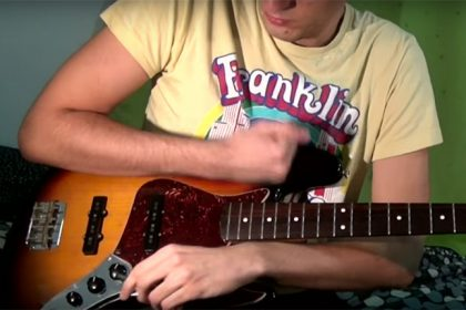Watch This Bass Player Summon an Electronic Opus on His Stringless Guitar