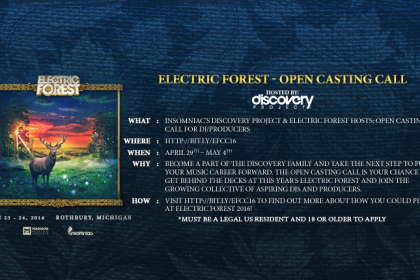 Announcing: Electric Forest Open Casting Call 2016