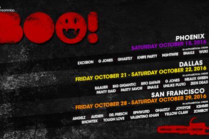 BOO! Coming to San Francisco, Dallas and Phoenix October 2016
