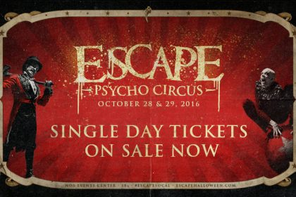 Escape: Psycho Circus 2016 Lineup by Day and Single-Day Tickets Available Now