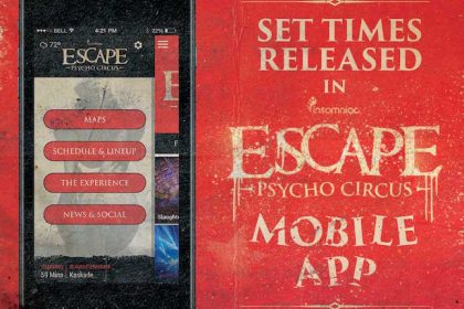 Escape: Psycho Circus 2016 Set Times and App Now Available