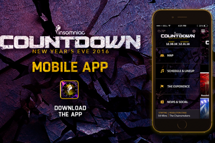 Countdown 2016 Set Times and App Now Available