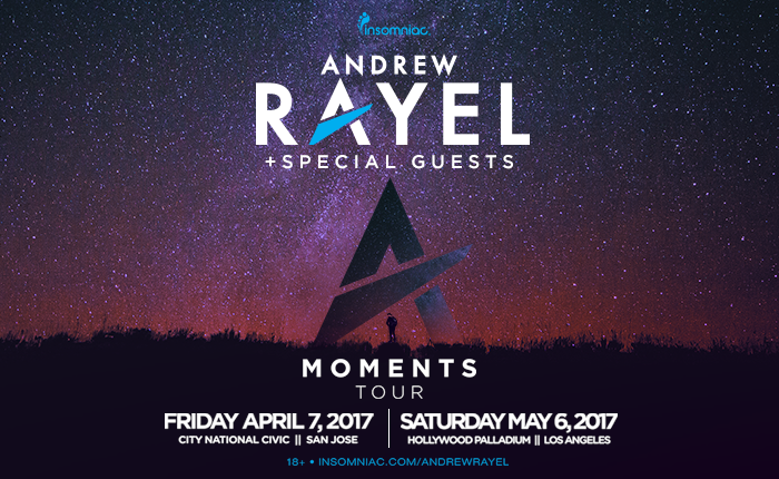 Andrew Rayel Brings the Moments Tour to NorCal and SoCal Spring 2017 | Insomniac
