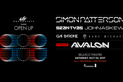 Dreamstate Presents Open Up With Simon Patterson at the Belasco Theater in Downtown Los Angeles July 2017