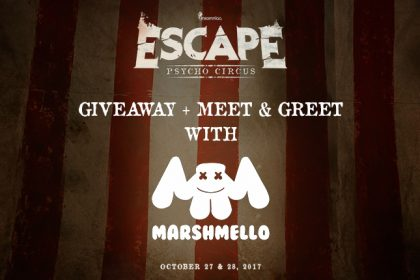 Meet and greet insomniac win a meet greet with marshmello and tickets to escape psycho circus 2017 m4hsunfo
