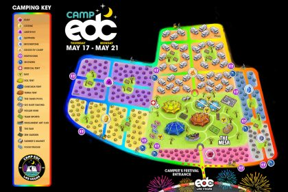 New Map Reveals Layouts and Attractions for Camp EDC