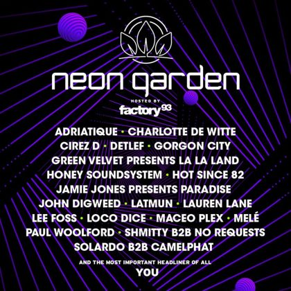 Ride the Rhythm of Factory 93 at neonGARDEN With This EDC Las Vegas 2018 Playlist