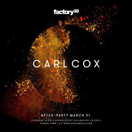 Carl Cox Afterparty