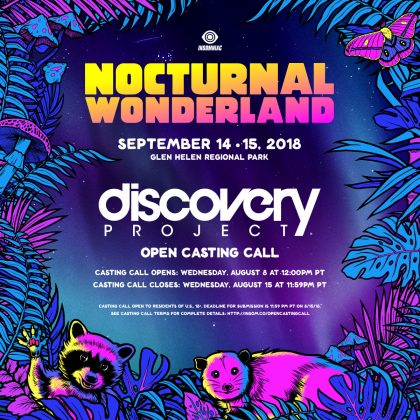 Nocturnal Wonderland 2018: DJ / Producer