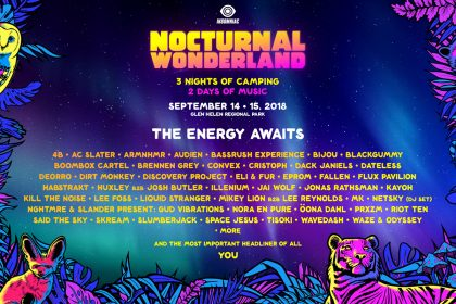 Nocturnal Wonderland 2018 Lineup Announced!