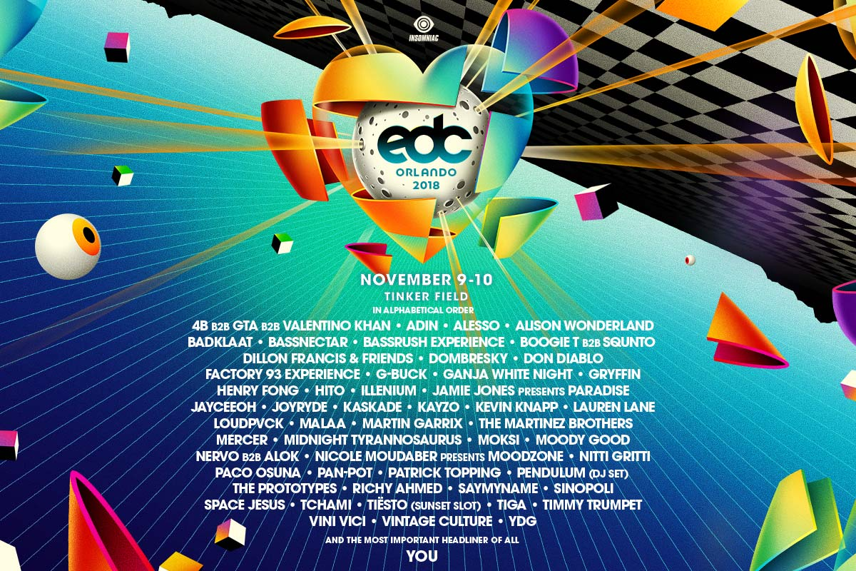 Announcing the EDC Orlando 2018 Lineup | Insomniac