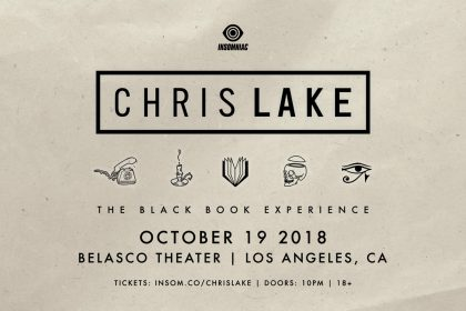 Announcing: Chris Lake – The Black Book Experience at the Belasco