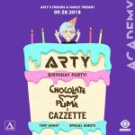 Arty's Birthday Party with Chocolate Puma & Cazzette