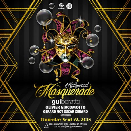 Hollywood Masquerade: Gui Boratto & Olivier Giacomotto