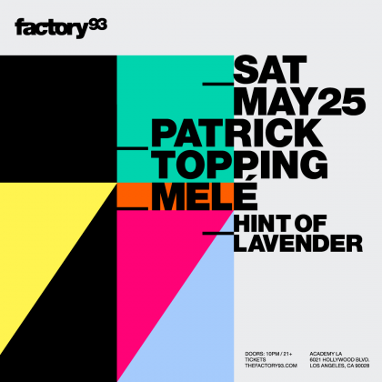 Patrick Topping & Melé