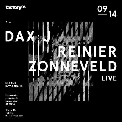 Dax J & Reinier Zonneveld (Live)