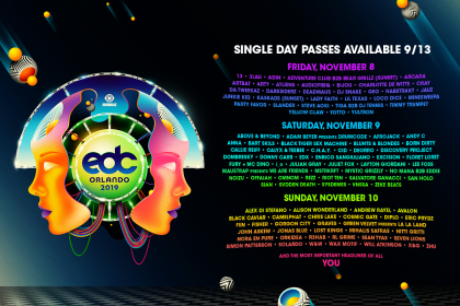 EDC Orlando Lineup By Day Announced