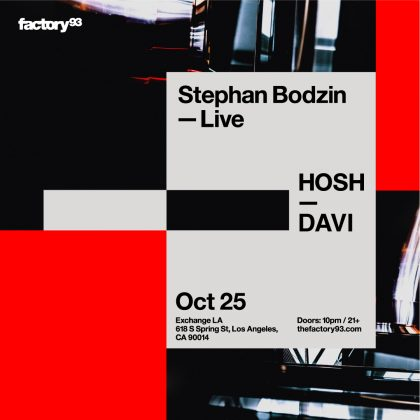 Stephan Bodzin (Live) with HOSH