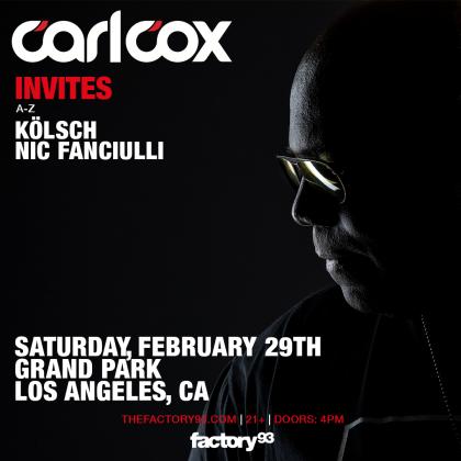 Carl Cox Invites