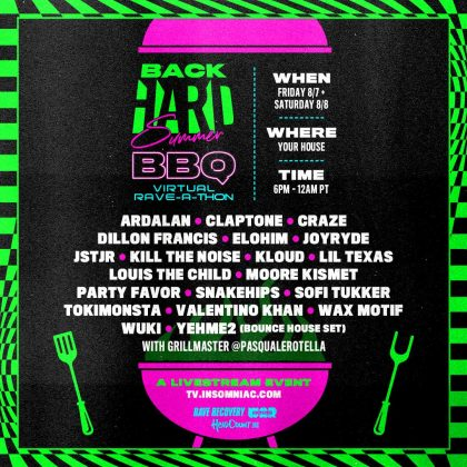 BackHARD Summer BBQ Virtual Rave-A-Thon