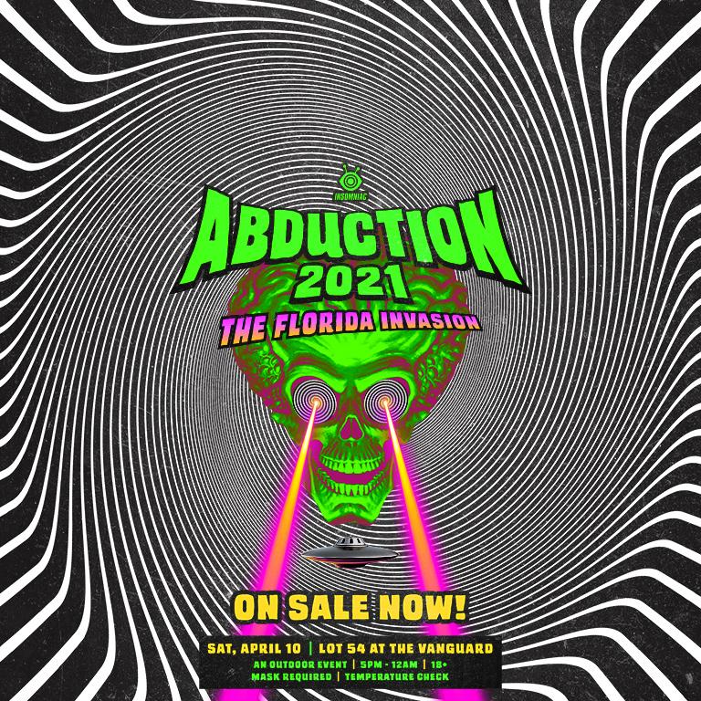 Abduction 2021: The Florida Invasion | Insomniac Header