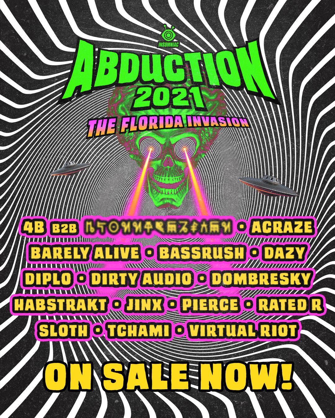 Abduction Festival lineup 2021