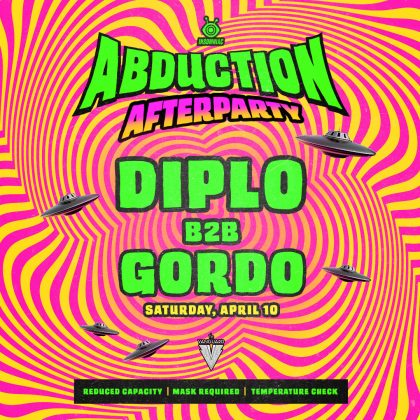 Abduction Afterparty: Diplo B2B Gordo