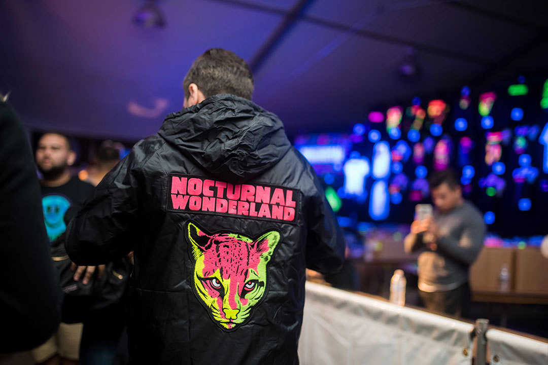 The Nocturnal Wonderland merch booth