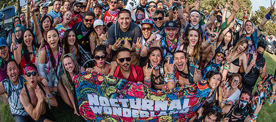 Headliners with a Nocturnal Wonderland flag