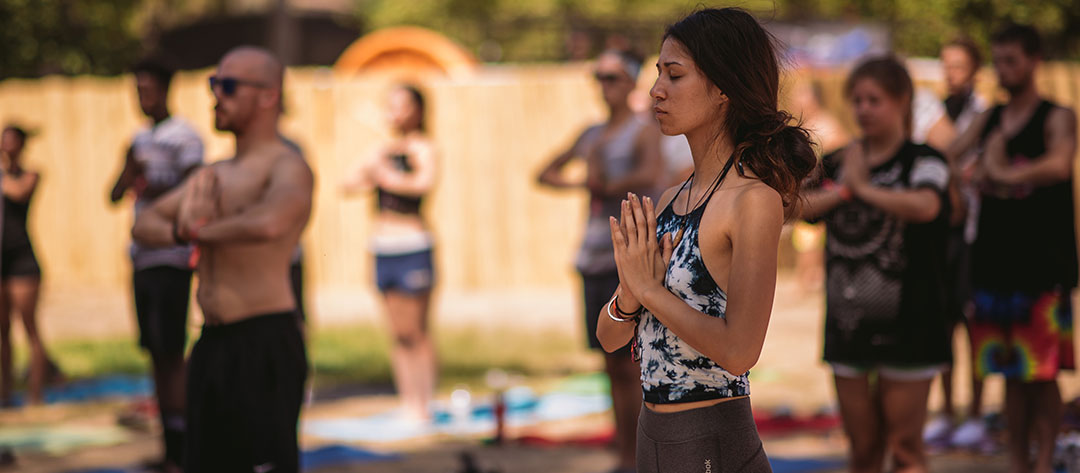 Yogis in the campground