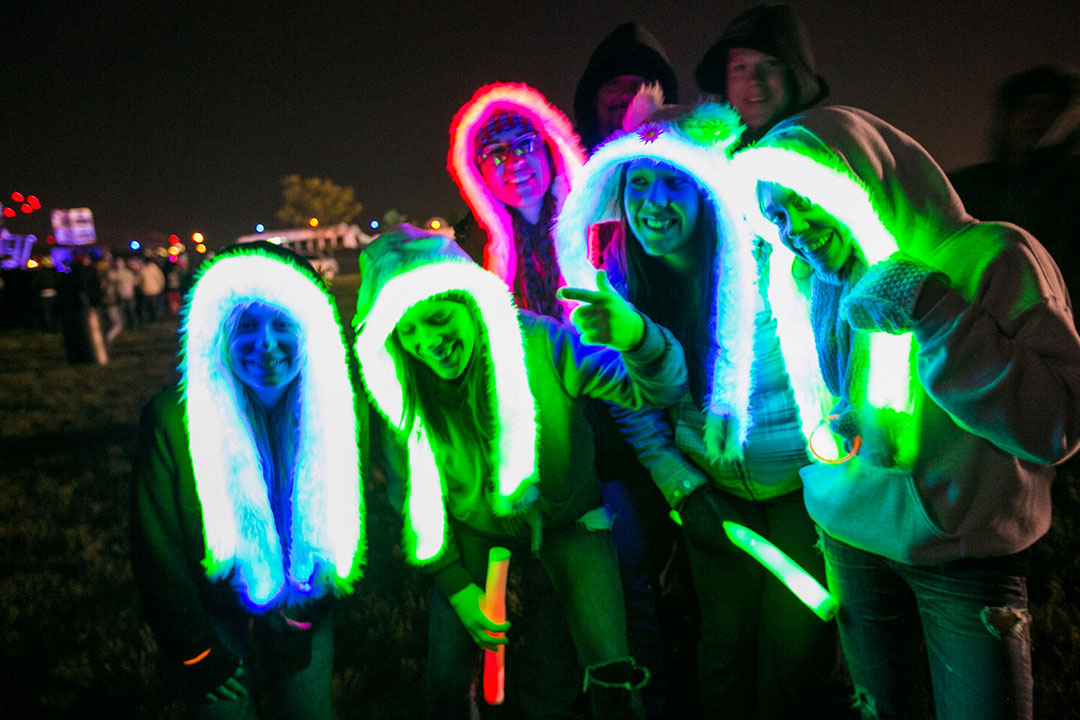 Headliners in glowing spirit hoods