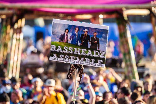 """Bassheadz Assemble"" totem"