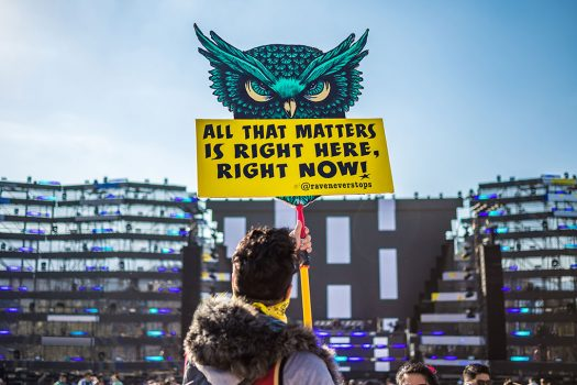 """All that matters is right here, right now"" totem"