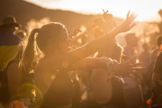 Headliners dancing in the sun