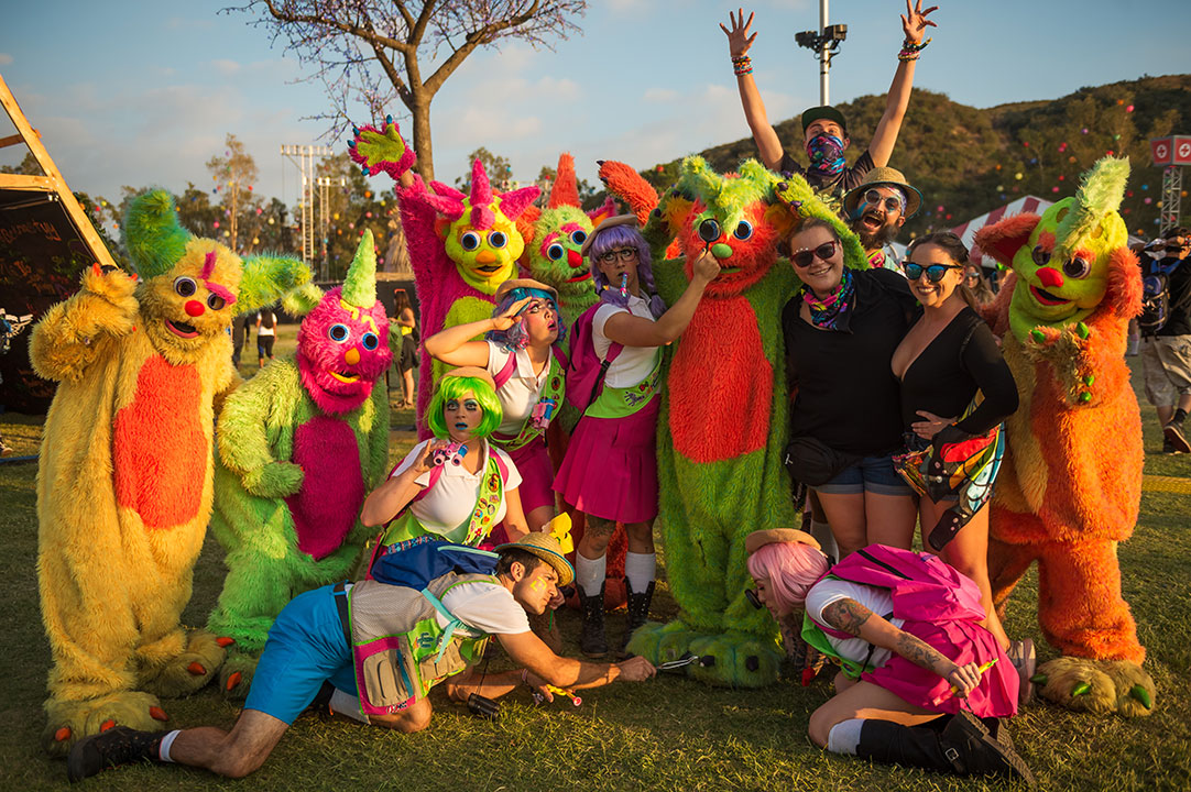 A merry band of costumed performers