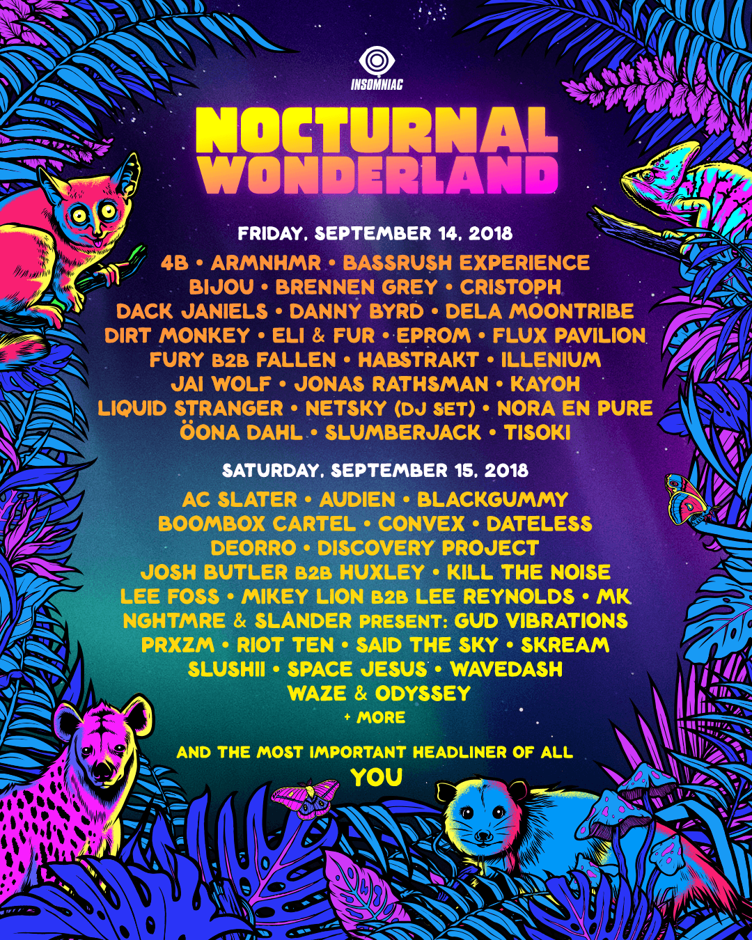 Nocturnal Wonderland Lineup