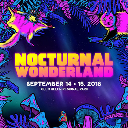 Nocturnal Wonderland 2018 key art