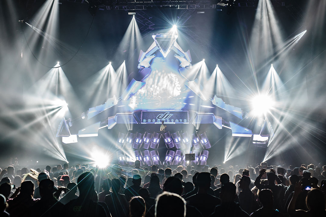 The stage at Dreamstate San Francisco