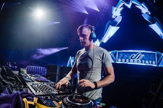 A DJ performing