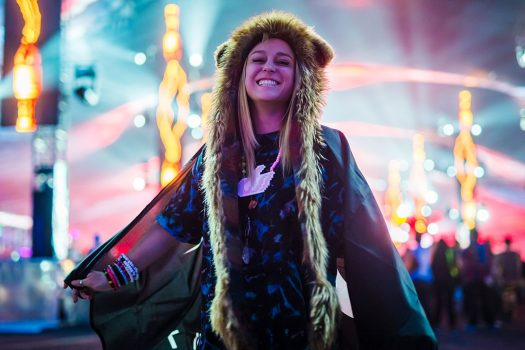 A happy Headliner in a spirit hood