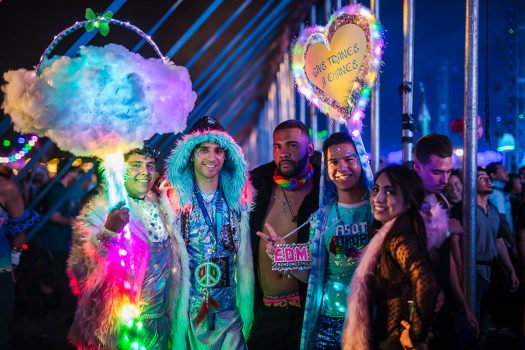 Headliners with fur and totems