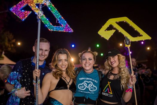 Headliners with homemade Dreamstate totems