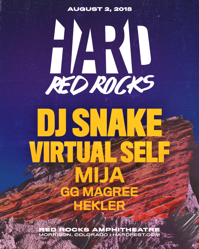 Hard red rocks lineup