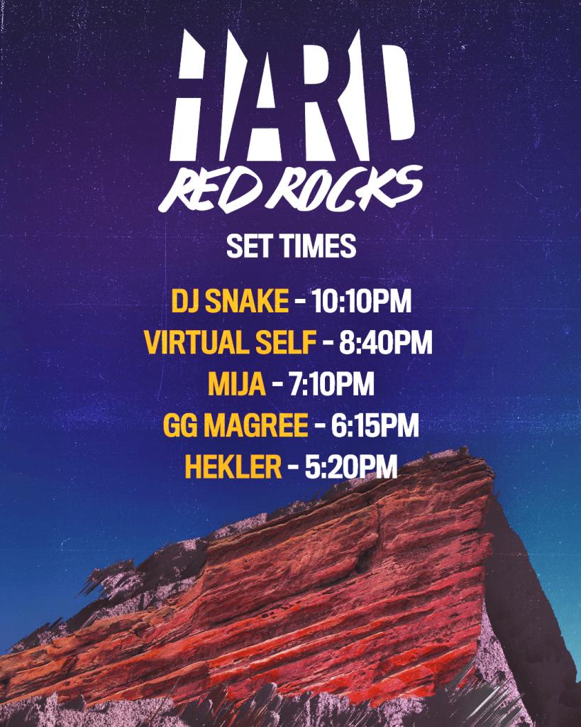 Hard Red Rocks Set Times